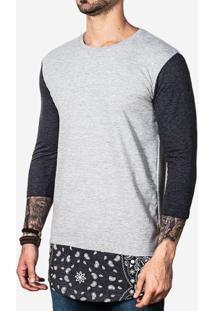 Camiseta Longline 3/4 Barra Bandana 100630
