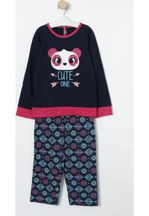 "Pijama ""Cute One""- Azul Marinho & Azul- Puketpuket"