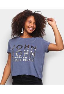 Camiseta John John Made In Heaven Feminina - Feminino-Azul