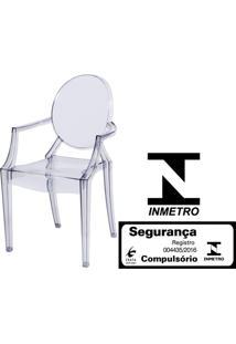 Cadeira Louis Ghost Com Braco Cor Transparente - 9525