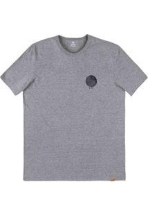 Camiseta Masculina Regular Em Malha De Algodão Com Estampa Frente E Costas