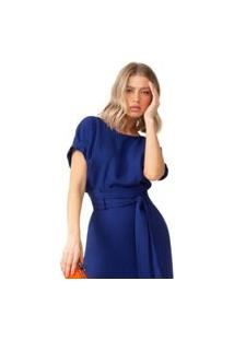 Blusa Lalibela De Tecido Alamata Azul
