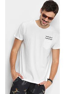 Camiseta Foxton Gola Careca Bolso Masculina - Masculino