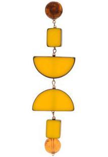 Brinco Unitário Cetus Twin Solo - Amarelo