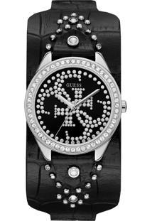 Relógio Guess Feminino Couro Preto - 92707L0Gtnc1