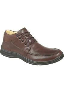 Sapato Confort Plus Em Couro Bmbrasil 2710 - Masculino-Marrom