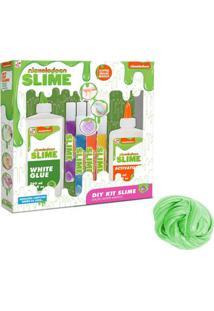 Kit Conjunto De Acessórios - Faça Seu Slime - Nickelodeon - Grande E Slimy Metalizado - Verde - Toyng