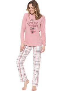 Pijama Malwee Liberta Have A Nice Day Rosa - Kanui