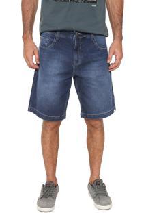 Bermuda Jeans Mcd Reta Walk Pure Azul