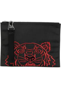 Kenzo Large Chinese New Year Kampus Tiger Clutch - Preto