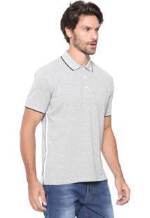 Camisa Polo Sergio K Reta Básica Cinza