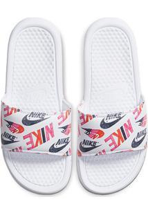 Chinelo Slide Nike Benassi Jdi Print Feminino - Feminino-Rosa