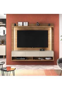 Home Suspenso Para Tv Até 50 Polegadas Magnific Caemmun Buriti/Off White