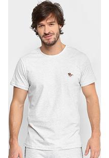 Camiseta Polo Rg 518 Bordado Color Masculina - Masculino-Branco