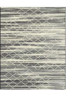 Tapete Classe A Abstrato- Preto & Off White- 200X150Tapete Sã£O Carlos