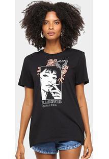 Camiseta Cavalera Tee Classic Ramones Feminina - Feminino-Preto