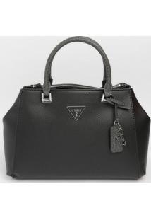 Bolsa ''Guess®'' Com Tag - Preta & Cinza Escuro - 37Guess