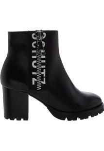 Ankle Boot Tratorada Logo Black   Schutz