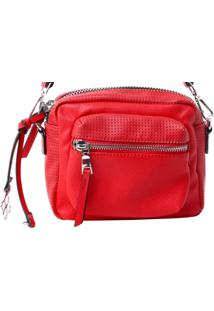 Bolsa Fedra F5818 Vermelho - Vermelho - Feminino - Dafiti