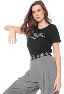 Camiseta Cavalera Skate Punk Jamaica Preta