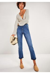Calça Jeans Reta Cintura Alta Comfort Stone Jeans