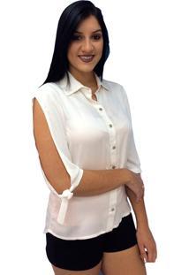 Camisa Manga Longa Energia Fashion Off-White
