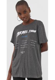 Camiseta Colcci Rebel Tour Grafite