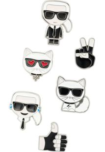Karl Lagerfeld Kit 6 Broches 'Karl Ikonik' - Estampado