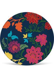 Prato De Sobremesa Shiva Colorido 2,5X20X20 Cm