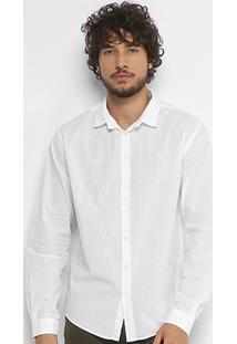 Camisa Slim Fit Colcci Básica Manga Longa - Masculino