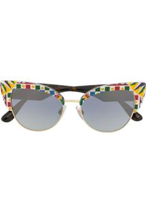 Dolce & Gabbana Eyewear Cat-Eye Sunglasses - Branco