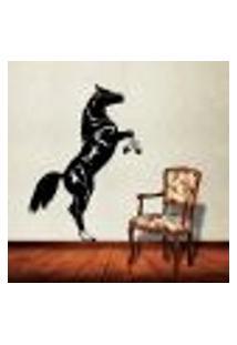 Adesivo De Parede Animais - Cavalo Empinando - P 63X42Cm