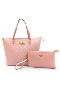 Bolsa Feminina Kit Com 2 Bolsas Grande E Pequena Nécessaire