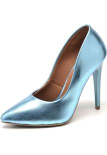 Scarpin Salto Fino Ellas Online Azul - Azul - Feminino - Dafiti