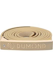 Cinto Dumond Fino Logo Feminino - Feminino-Ouro