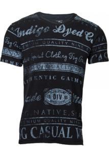 Camiseta Versatti Indigo Tgs Preta