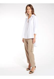 Camisa Rosa Chá Misty 2 Off White Feminina (Off White, G)