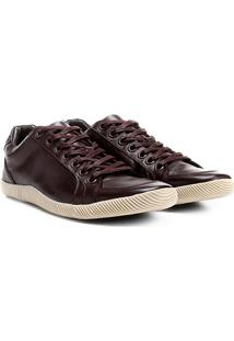 Sapatênis Couro Shoestock Masculino - Masculino-Café