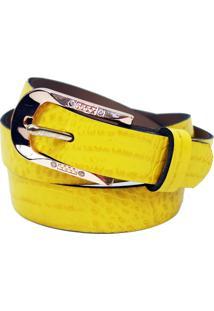 Cinto Original Design Couro Amarelo