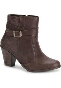 Ankle Boots Feminina Bruna Rocha - Cafe