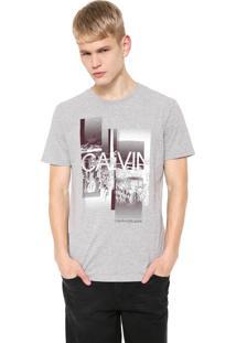 Camiseta Calvin Klein Jeans City Cinza