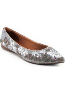 Sapatilha Sapato Show - Feminino-Cinza