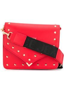 Versace Jeans Couture Bolsa Transversal Envelope Com Tachas - Vermelho