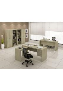 Mesa Para Computador Office Me 4106 Fresno Tecno Mobili Marrom