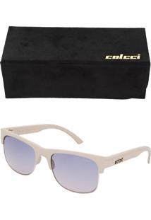 Óculos De Sol Colcci Recorte Branco