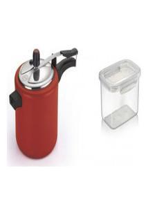 Kit Pote Plástico Microondas 4.3L + Panela De Pressão 4.5L