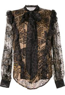 Preen By Thornton Bregazzi Animal Print Blouse - Marrom