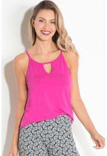 Blusa Em Malha De Alças Pink Quintess