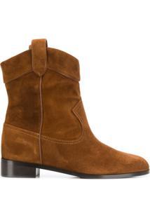 Aquazzura Ankle Boot Cowboy - Marrom