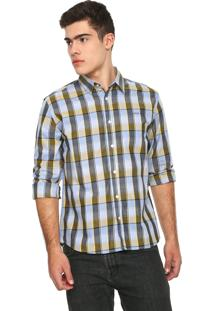 Camisa Colcci Reta Xadrez Cinza/Amarelo